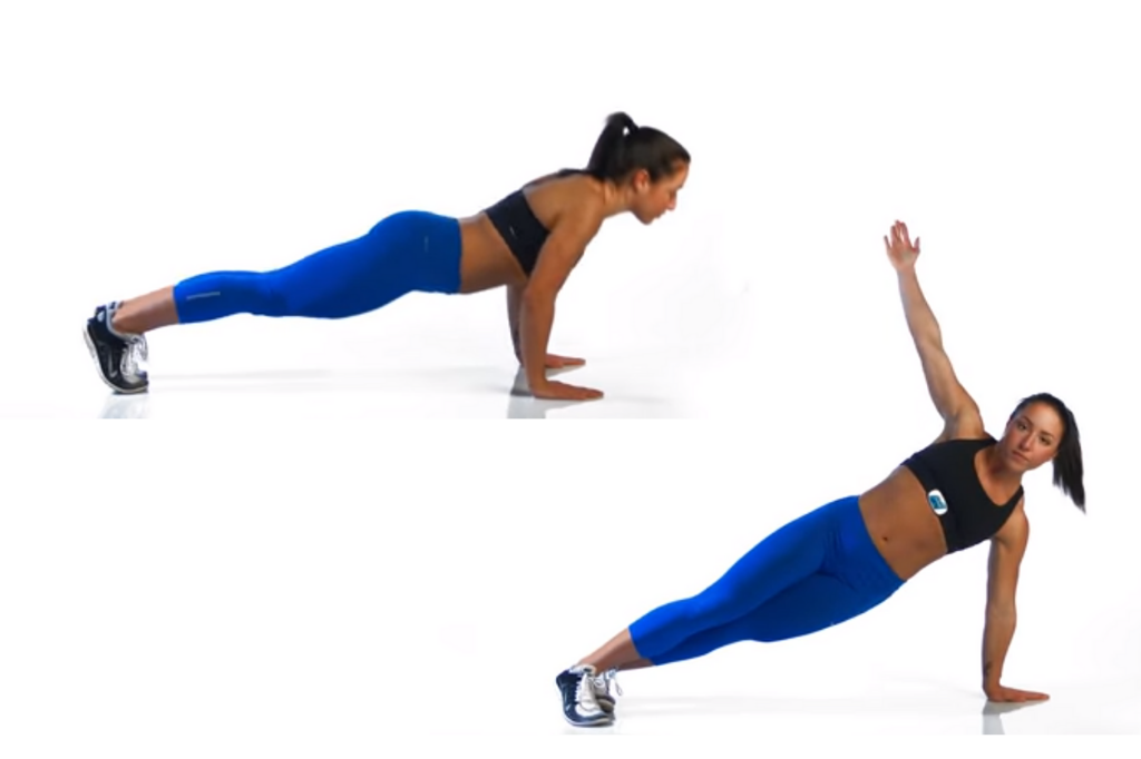 Push-Ups with rotation on the left side